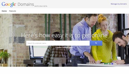 Google Domainsのホームページ