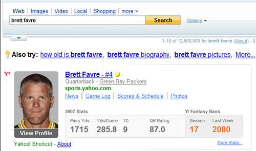 Yahoo! Search Results for Brett Favre