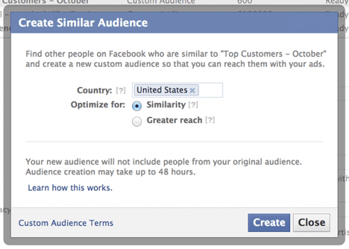 Create Similar Audience