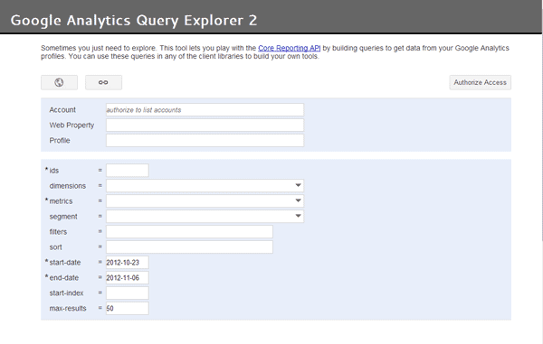 図9:「Google Analytics Query Explorer 2」