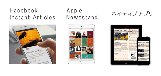 Facebook Instant Articles / Apple Newsstand / ネイティブアプリ