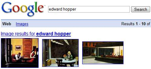 Google Search Results for Edward Hopper