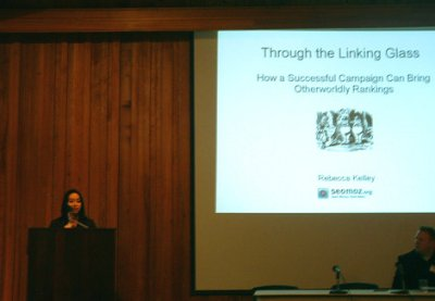 Photo of Rebecca's Presentation on Link Building